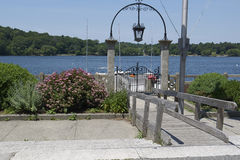 Dock with gate Stock Photography