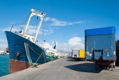 Dock am Hafen Lizenzfreie Stockfotos