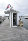Dock by the harbor in Stonington Connecticut Stock Photography