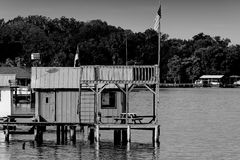 Dock house Stock Image