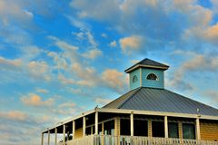 Dock House Skies Royalty Free Stock Photography
