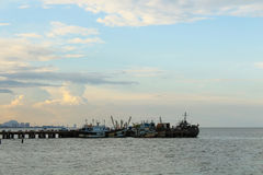 Dock at Huahin, Thailand Royalty Free Stock Images