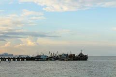 Dock at Huahin, Thailand Royalty Free Stock Images