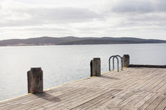 Dock Huon River de bateau Photos libres de droits