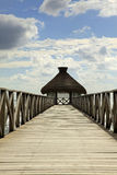 The Dock and Huts at Vidanta Riviera Maya Royalty Free Stock Images