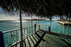 Dock on the idsland of Bimini Royalty Free Stock Photography