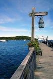 Dock isolé Photo stock