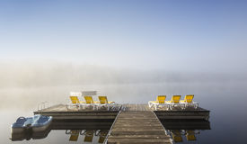Dock on Lac-Superieur, Mont-tremblant, Quebec, Canada Stock Photography