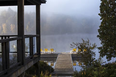 Dock on Lac-Superieur, Mont-tremblant, Quebec, Canada Royalty Free Stock Photography