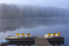 Dock on Lac-Superieur, Mont-tremblant, Quebec, Canada Stock Image