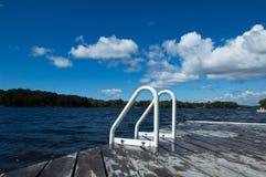 Dock at lake Stock Image