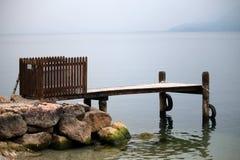 Dock at lake Stock Images