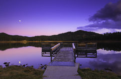 Dock at the lake Royalty Free Stock Images