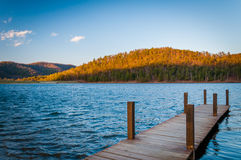 Dock on Lake Arrowhead, in Luray, in the Shenandoah Valley of Vi Royalty Free Stock Photo