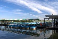 Dock. On a lake, Beijing, China Royalty Free Stock Image