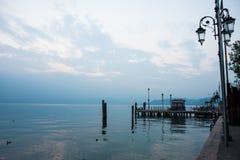 Dock on Lake Garda Stock Image