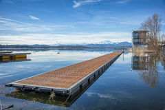 Dock on a lake Stock Photography