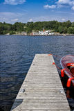 Dock in Lake Muskoka Stock Image