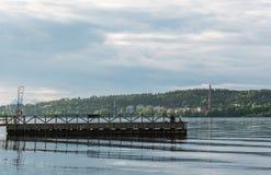 Dock on Lake Pyhäjärvi in Tampere, Finland Royalty Free Stock Images