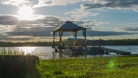 Dock on Lake stock footage