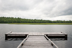 Dock by a Lake Royalty Free Stock Image
