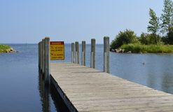 Dock for launching boats Royalty Free Stock Photo