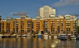 Dock London Bootshäuser St. Katherine Stockbilder