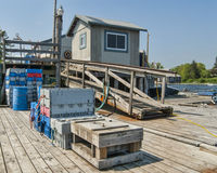 Dock for Maine Lobster Fishermen Royalty Free Stock Image