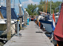 Dock of marina. A large number of boats at the marina stock photography