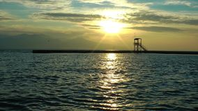 The Dock Marine and the Sea. Nature Landscape video stock video footage