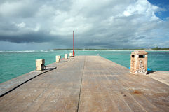 Dock in the Mayan Riviera, Mexico Stock Photos