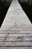 Dock mit Abdrücken Stockfotos