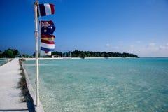 Dock mooring maldives Royalty Free Stock Photo