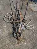 At the dock. Mooring from a ship docked at harbour Royalty Free Stock Photography