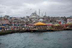 Dock on mosque background Stock Photo