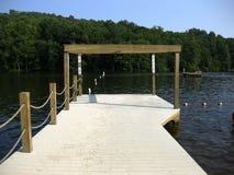 Dock in Mt. Gretna See Stockfotografie