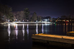 Dock at Night Stock Images