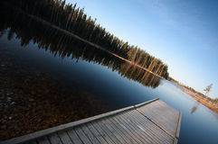 Dock on Northern Manitoba lake Royalty Free Stock Image