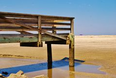 Dock by the Ocean. Royalty Free Stock Photos