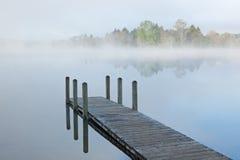 Free Dock On Foggy Lake Royalty Free Stock Images - 14672279