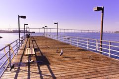 Dock over San Diego Bay Royalty Free Stock Photography