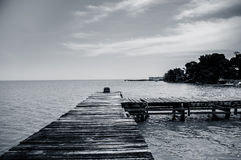 Dock pier in livingston guatemala Stock Image