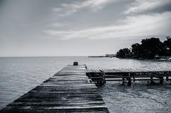 Dock pier in livingston guatemala Stock Image
