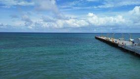 Dock Playa-del Carmen Mexiko Stockbild