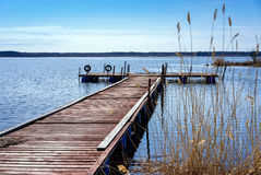 Dock for pleasure and fishing boats Royalty Free Stock Image
