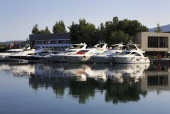 Dock in Porto Carras Grand Resort. Royalty Free Stock Images