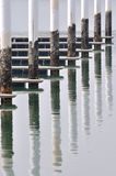 Dock poster pattern Royalty Free Stock Image