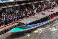 Dock public de bateau Photographie stock