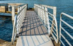 Dock Ramp With Shadows Royalty Free Stock Image