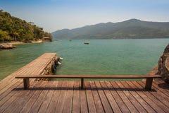 Dock at Saco do Mamangua - Paraty - RJ stock photos